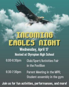 Incoming Eagles Night